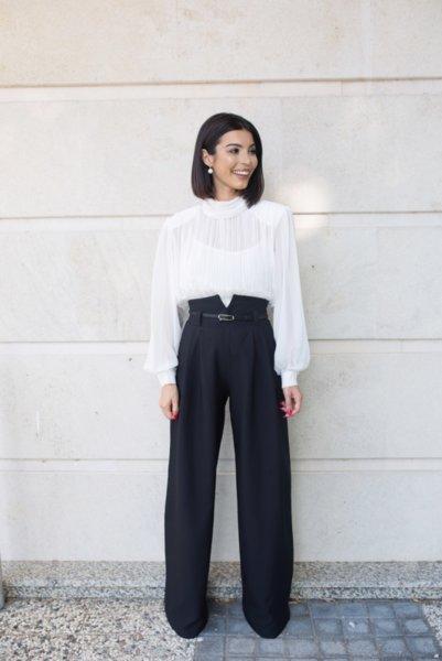 МЕГЗ елегантен панталон с висока талия