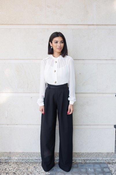 МЕГЗ елегантен панталон с висока талия 2