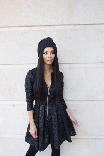 Мегз рокля 2 в 1 черна