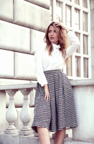 Meгз черно-бяла ретро пола