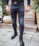 Сини мъжки дънки с много ципове-Copy
