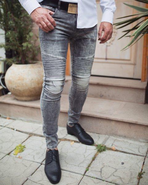 Сиви мъжки дънки