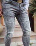 Черни мъжки дънки с два ципа-Copy