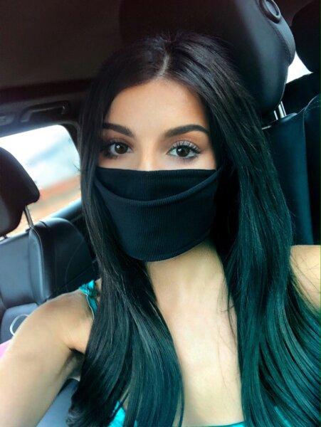 Дизайнерска маска за лице черна рипс