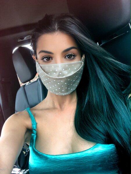 Дизайнерска маска за лице Dots Nude