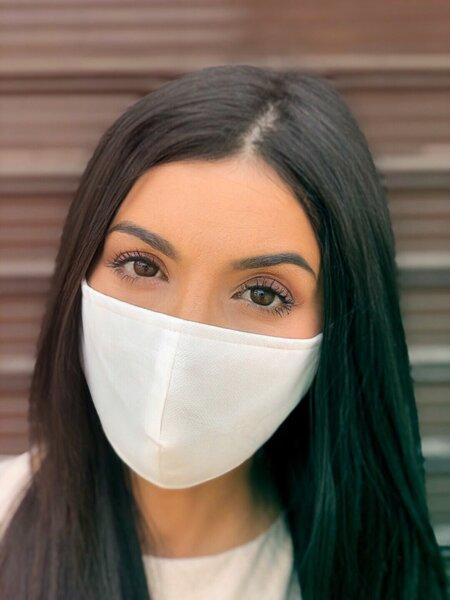 4 слоя маска плат със сертификат за ВИРУСНИ ИНФЕКЦИИ бяла