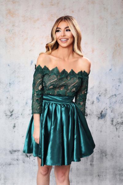 Мегз ЛИМИТИРАНА рокля зелена дантела