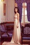 Мегз Дълга рокля с перли и шифон