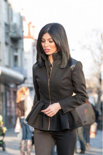 Мегз палто с дълъг ръкав