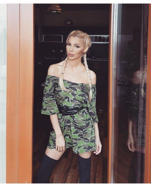 Мегз маскировъчна Oversized T-shirt рокля