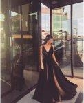 Мегз дълга рокля с метални детаили