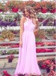 Мегз асиметрична дълга рокля