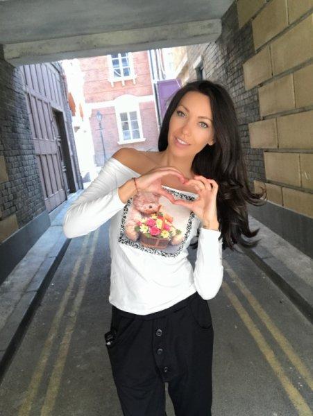 Мегз Блуза с щампа и камъни