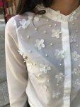 Мегз Риза с цветя перли и тюл
