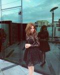 Мегз рокля дантела и тюл