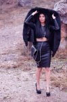 Мегз кожена пола с цип
