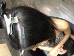 Екстеншън 100% човешка коса на стикери - 20бр - светли цветове