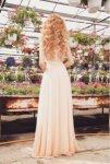 Мегз дълга рокля с дантела