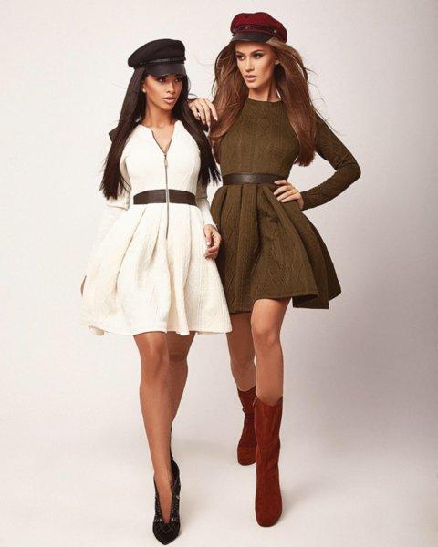 Мегз ЛИМИТИРАНА 2 в 1 рокля с 3D детайли
