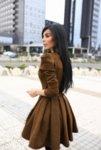 Мегз 2 в 1 велурена рокля