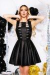 Мегз кожена рокля