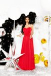 Мегз дълга червена рокля - КОРСЕТ