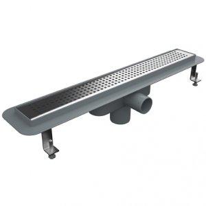 Линеен сифон - 80 см решетка на квадратчета - с пластмасова изолационна пола