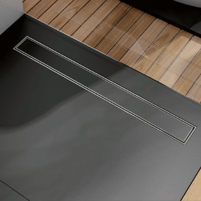 Линеен сифон за вграждане на плочка - серия OPTIMA S - 60 см