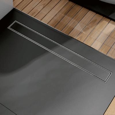 Линеен сифон за вграждане на плочка - серия OPTIMA S - 80 см