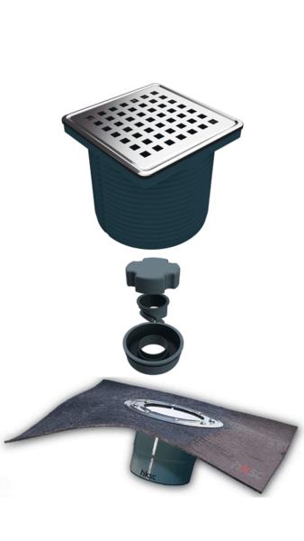 Регулируем сифон с битумна мембрана с двойна защита от миримзи, долен изход Ø100-Copy