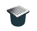 Регулируем сифон 10х10 см, долен изход Ø100, рамка от полипропилен-Copy