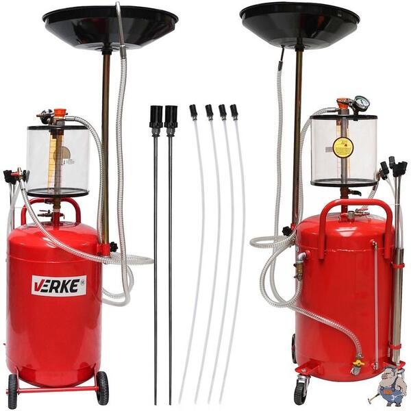Пневматична машина за източване на масло - Масларка 65 литра