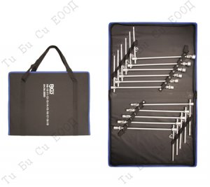 комплект ключове с Т-образна дръжка и чупеща глава, 8 - 19мм. BGS Technic