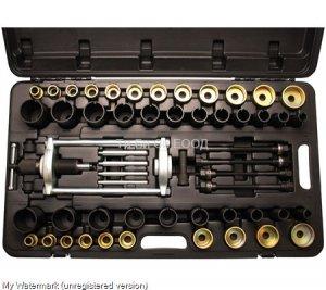 Професионален хидравличен комплект инструменти за монтаж/демонтаж (избиване/набиване) на шарнири, селенови втулки, лагери, семеринги и др. BGS Technic