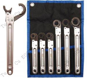 Професионален комплект специализирани ключове за спирачки/спирачни тръбички 6бр. BGS Technic