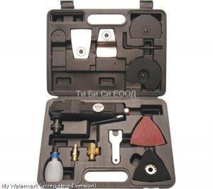 Професионален пневматичен тенекеджийски инструмент, 3 в 1 комбиниран BGS Technic