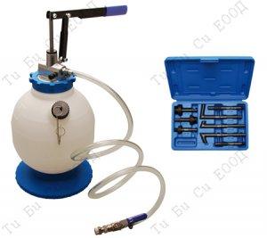 Професионална ръчна помпа за пълненe на масло в скоростни кутии 7л., BGS Technic