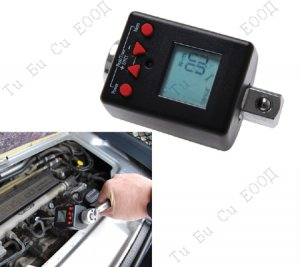 """Професионален дигитален динамометричен адаптор за тресчотка 1/4"""", 6-30Nm, BGS Technic"""