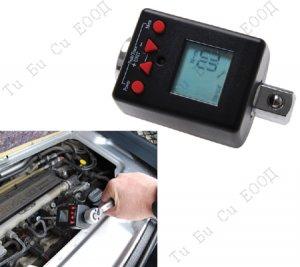 """Професионален дигитален динамометричен адаптор за тресчотка 3/8"""", 27-135Nm, BGS Technic"""