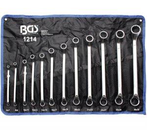 Професионален комплект ключове(лули),12бр., 6x7-30x32 мм., BGS Technic