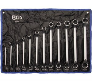 Професионален комплект ключове (тип Лула), 75° извити, 6 - 32мм.