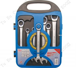 Комплект звездогаечни ключове с тресчотка, 7бр. BGS Technic