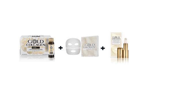 Комплект GOLD COLLAGEN HAIRLIFT+HYDROGEL MASK+ANTI AGEING LIP VOLUMISER