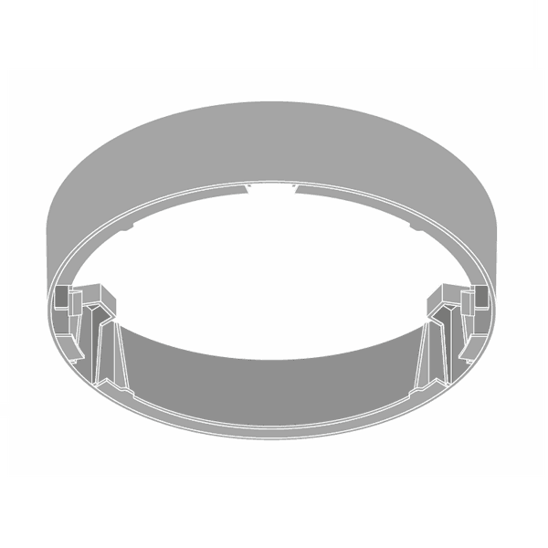 (DLS42) Рамка за повърхностен монтаж за DL SLIM DN210