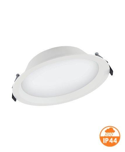 (190) LED ЛУНА DL ALU 200 25W 3000K WT