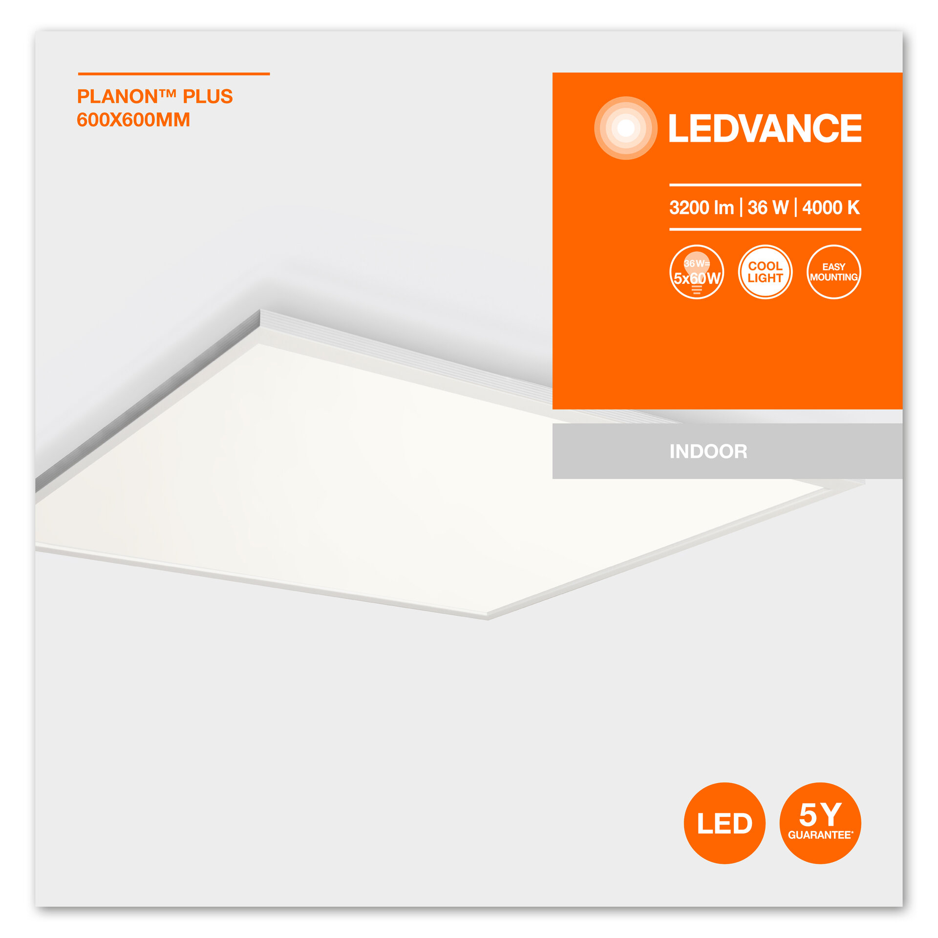 (106) LED ПАНЕЛ LEDVANCE PLANON PLUS 600x600 36W 4000K