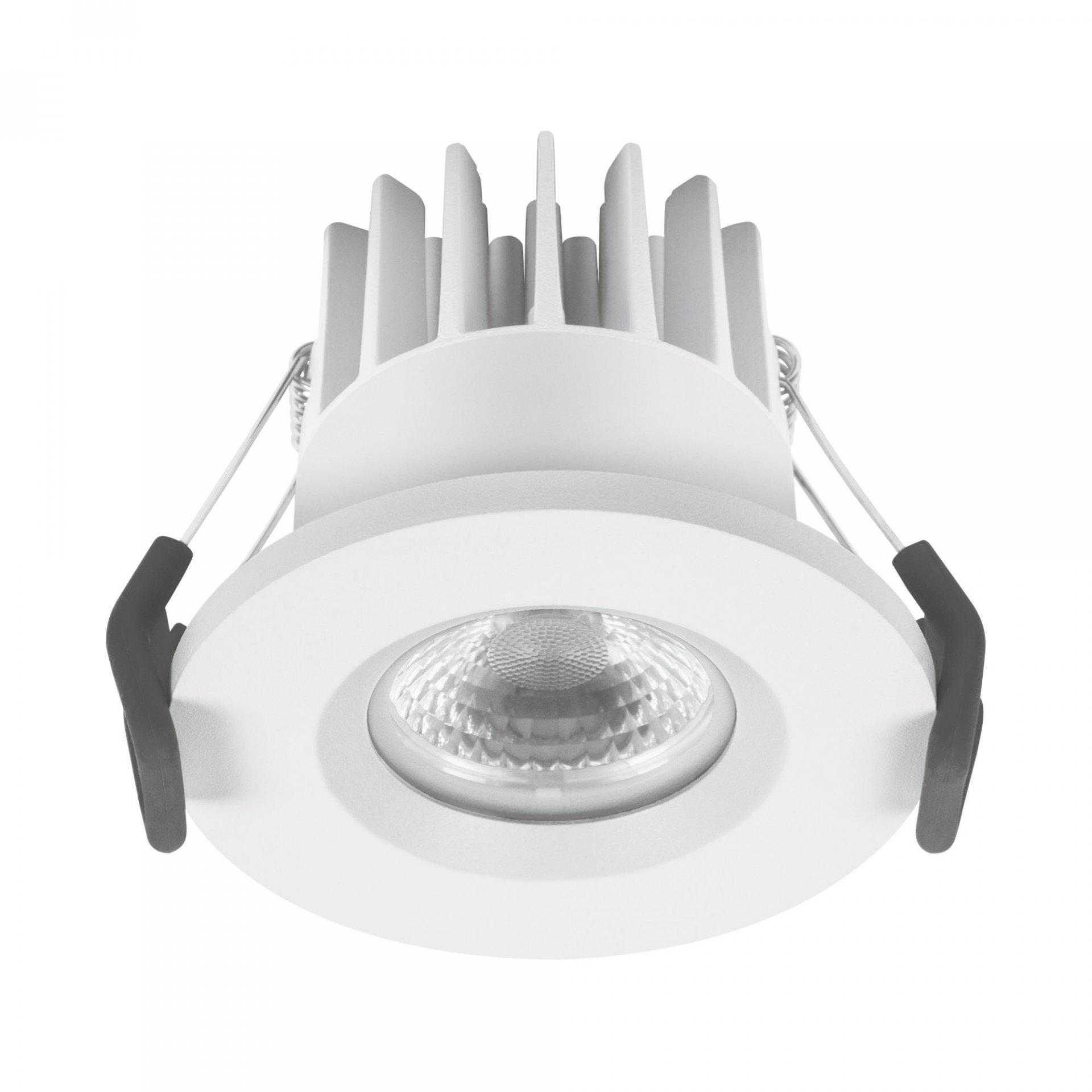 (340) SPOT LED 68 7W 3000K IP65 FP WT