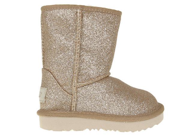 Детски обувки UGG Classic Short II Glitter - Златни