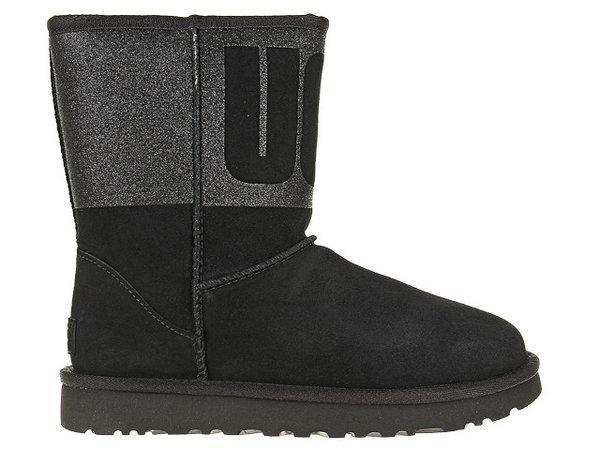 Дамски обувки UGG Classic Short Sparkle - Черни