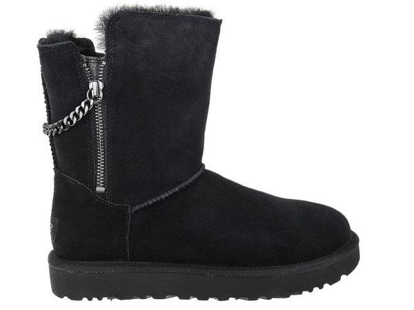 Дамски обувки UGG Classsic Short Sparkle - Черни